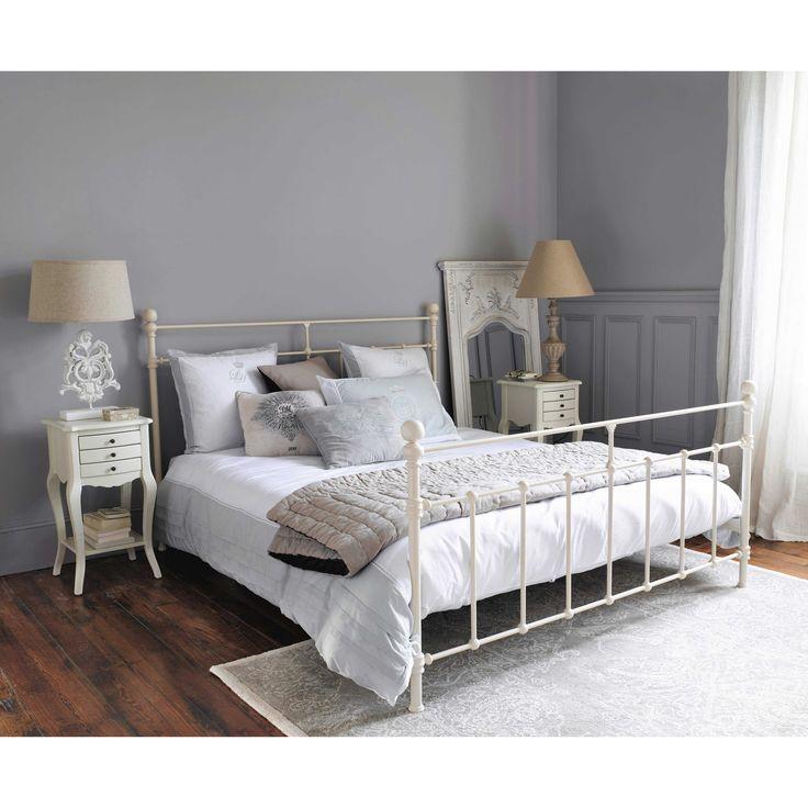 The 25 best lit 160 ideas on pinterest lit maison du monde lit en 160 and tete de lit 90 - Wit bed capitonne ...