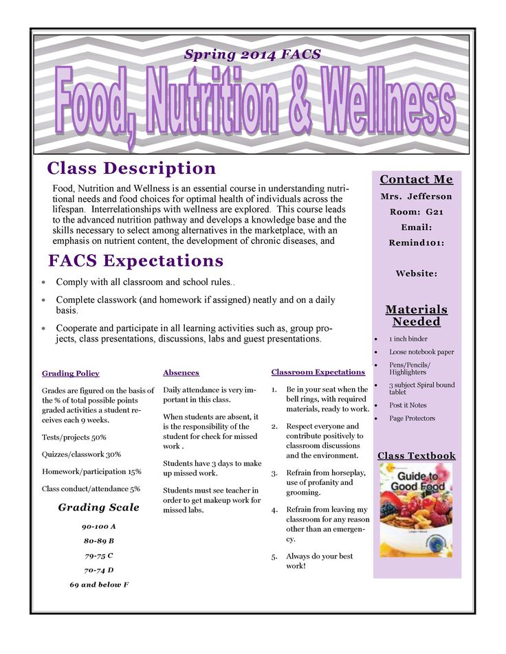 resume assignment for high school students nutrition