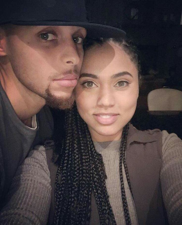Stephen Curry and wife. Very good looking couple