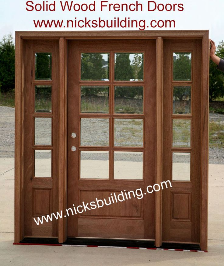 Entry Doors With Sidelights | Exterior French Doors With Sidelights |  Exterior Doors