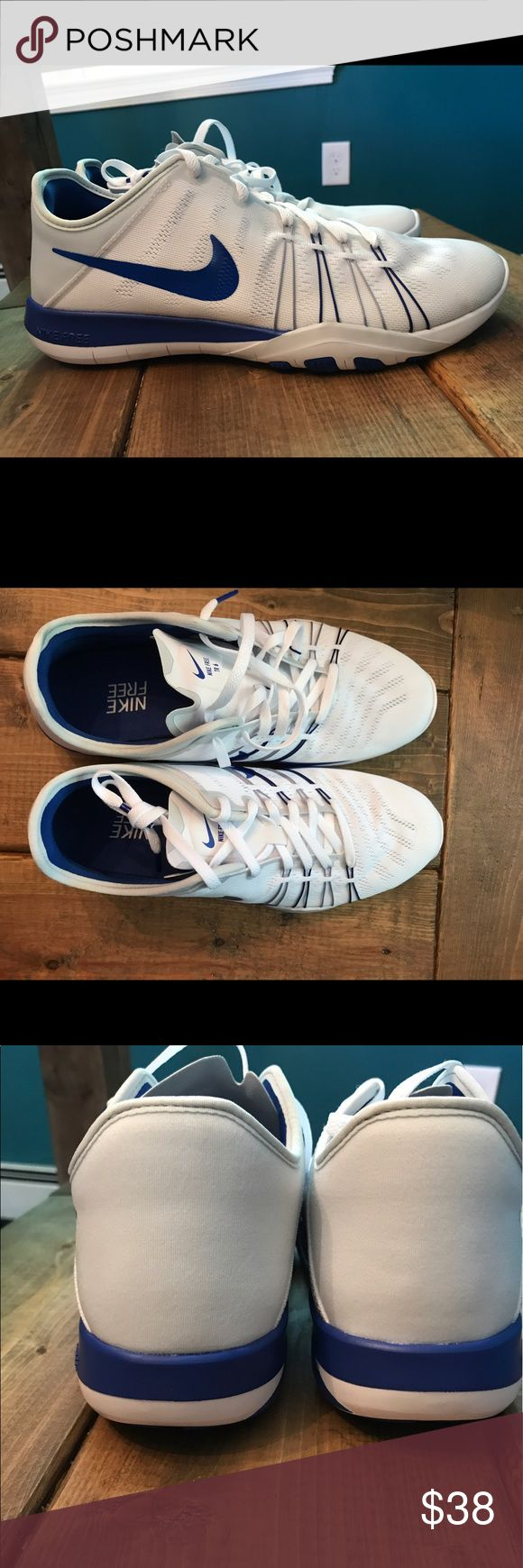 Nike Free Trainer 6 Women's Brand new with box, white with royal blue and grey accents. Never been worn! Make an offer! Nike Shoes Athletic Shoes