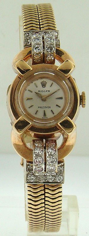 Rolex Collectible Vintage 18k Pink Gold & Diamond Vintage Lady's Rolex  #Rolex #LuxuryVintage