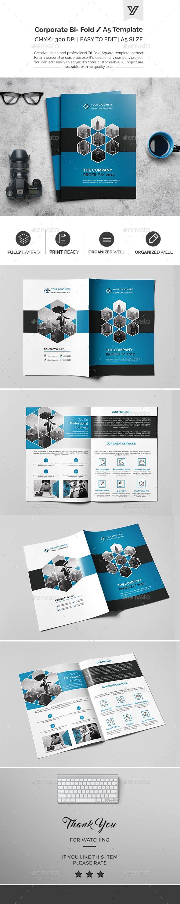 Corporate Bi-fold Brochure Template 01 - Catalogs Brochures
