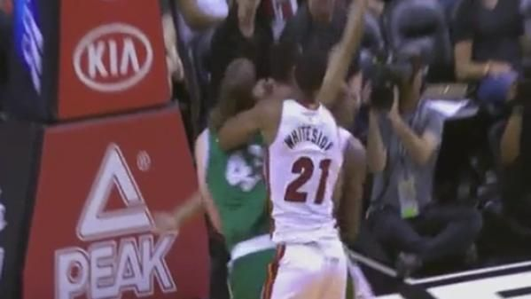 VIDEO: Hassan Whiteside elbows Kelly Olynyk cost 1-game suspension