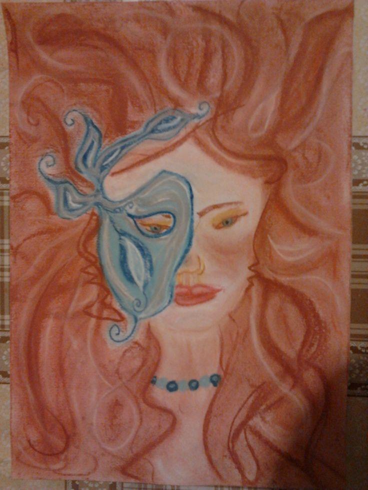 A nő egyszer. Pasztell 30x40 Papír. Artist: Balogh Krisztina