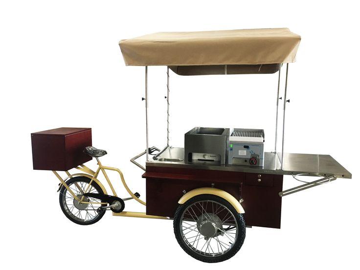 Mobile machine for sellin hot dogs & grilled sausages #gastrobike #icecreambike #gelatobike #eisfahrrad #veloglace #coffeebike #juicebike #jggastro #coffee #bike #streetfood #icecream #grillbike #hotdogbike  More info on www.gastro-bike.com