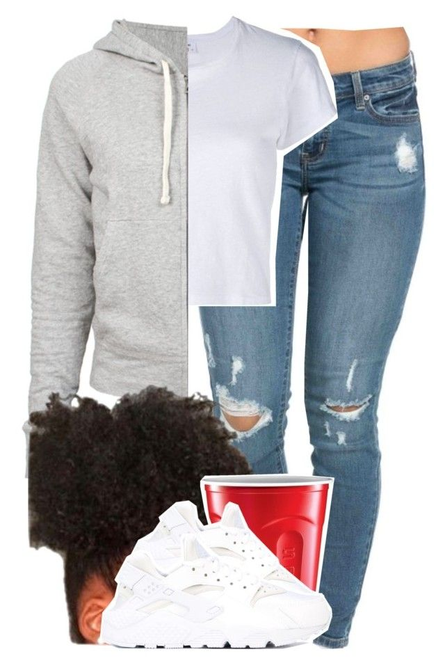 """""""1008"""" by tuhlayjuh ❤ liked on Polyvore featuring RE/DONE, James Perse and NIKE"""