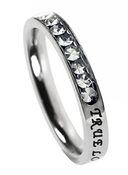 "Princess ""True Love Waits"" Christian Purity Ring For Girls 