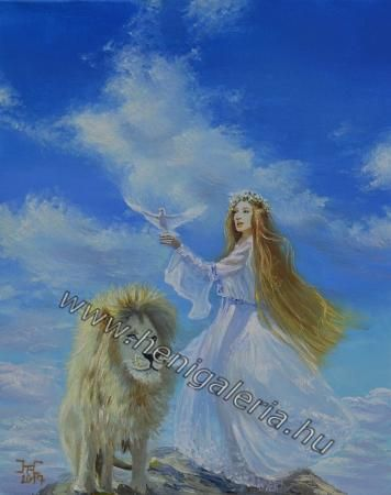 Gallery of Esoteric #Paintings: On the top of the world  A világ tetején, olajfestmény http://henigaleria.hu/en/kepek.php?album=Esoteric%20Paintings&page=6