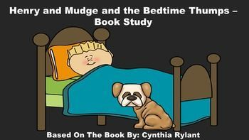 Henry and Mudge and the Bedtime Thumps Book Study.  This pack includes:  a review quiz, glossary page, vocabulary review, sequencing strips, main idea chart, and dog bone word cards.
