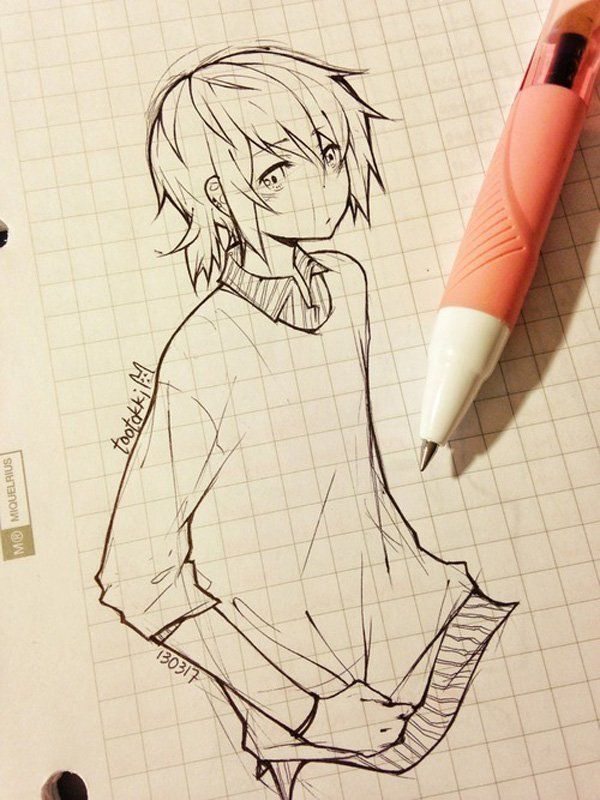 17 best ideas about simple anime on pinterest anime eyes for Cool easy anime drawings