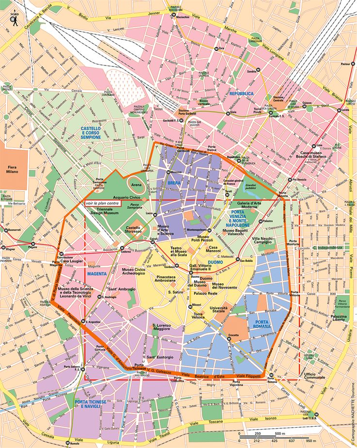 Carte Milan - Plan Milan