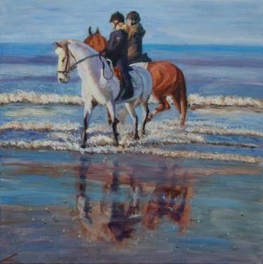 "Saatchi Art Artist Elena Sokolova; Painting, ""Sea walk"" #art"