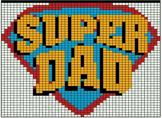 Father S Day Super Dad C2c Crochet Graphgan Graph Pattern