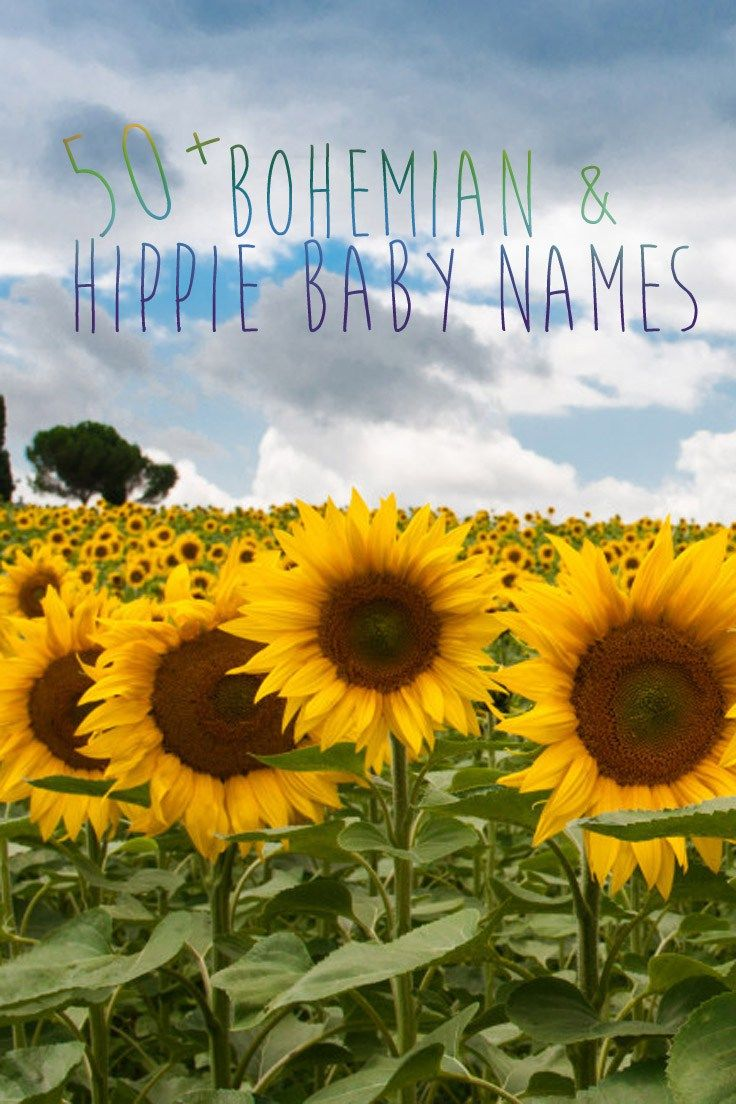Need inspiration for a unique or artsy baby name? Here's 50+ Bohemian & Hippie Baby names for your free spirited baby.