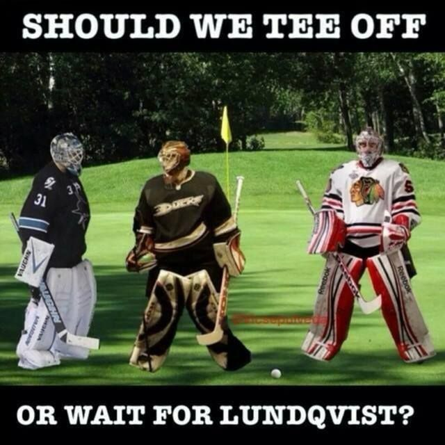 Should we tee off or wait for Lundqvist? 2014 Stanley Cup playoff. LA KINGS BABY!!!