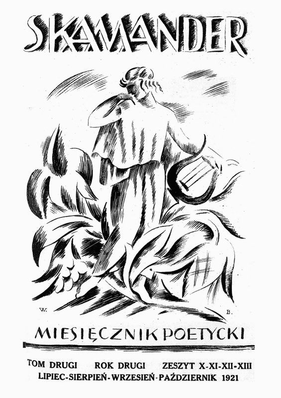 """Skamander- grupa poetycka, którą zaczęli formować około roku 1916 Julian Tuwim, Antoni Słonimski, Jarosław Iwaszkiewicz, Kazimierz Wierzyński oraz Jan Lechoń. 1916–1918 – formowanie się grupy na Uniwersytecie Warszawskim wokół czasopisma """"Pro Arte et Studio"""".29 listopada 1918 roku otwarta zostaje kawiarnia poetów """"Pod Picadorem"""". To głównie podczas tutejszych występów ukształtowała się """"wielka piątka"""". Główną problematyką była miłość, radość pisania, afirmacja życia."""