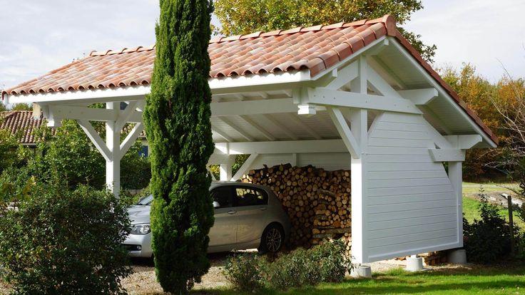 Carport Bois Optima Duo 2 Voitures (Plusieurs Tailles) Carport - monter un garage en bois