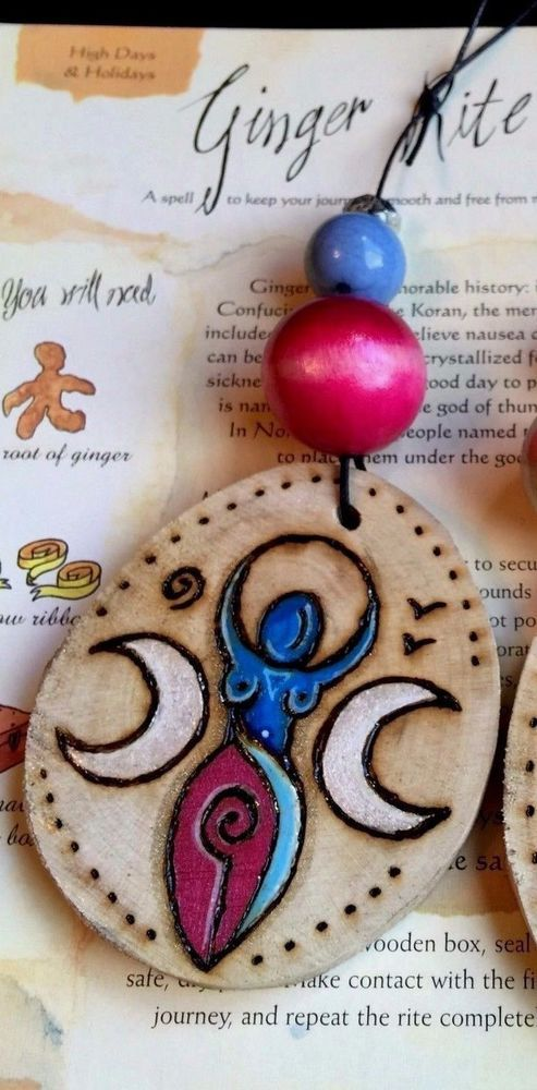 Spiral Goddess Wall Hanging. Handmade Wooden Triple Goddess Charm Amulet or Tree #wildseawitch