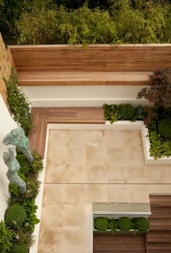 Cool Patio raised up to garden