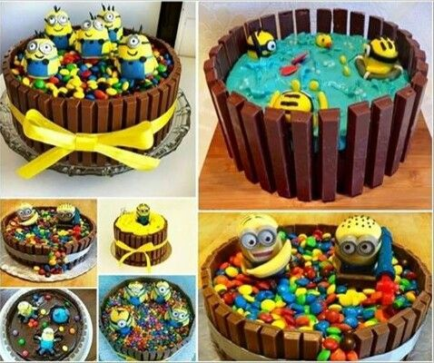 Cute Minions cakes.