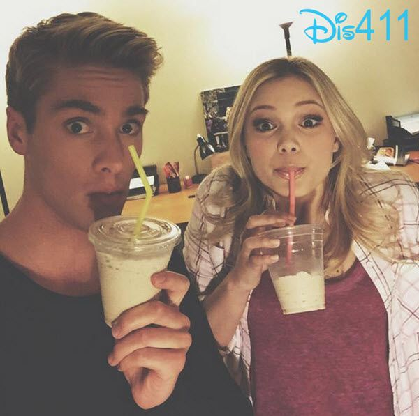 Photo: Austin North and olivia holt had a coffee truck on there set!!