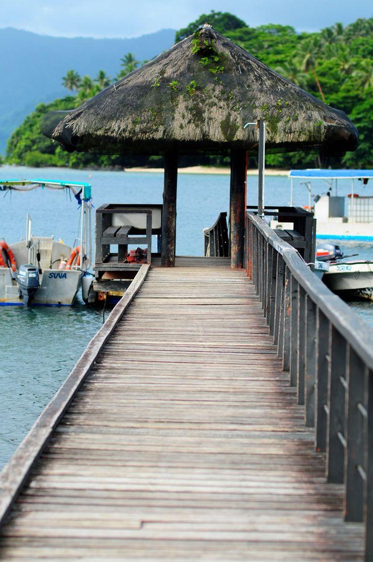 J. Hunter jetty, Savusavu Town.  Come take the tour!