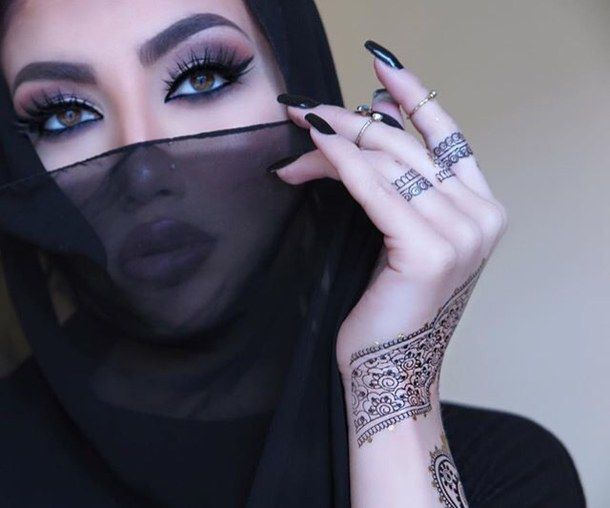 helly luv, kurdish, nails, arab, henna