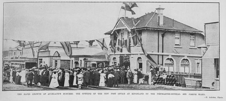 KingslandNZ-Kingsland Post Office-official opening 1912. Auckland Weekly News