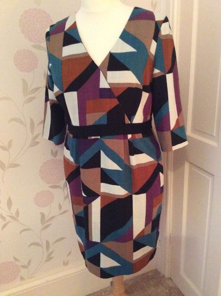 Hobbs dress with geometric shapes.