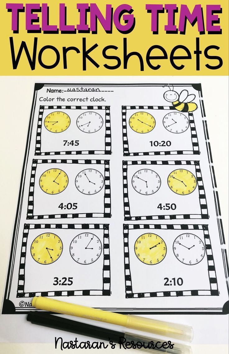 Telling Time To The 5 Minutes Worksheets Telling time