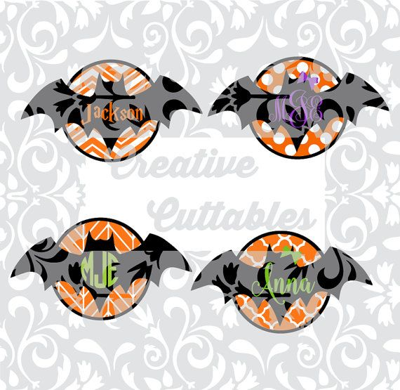 Halloween SVG  bat design for  Silhouette or other craft cutters (.svg/.dxf/.eps)