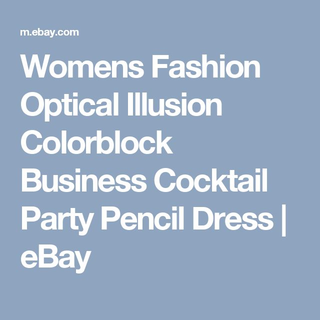 Womens Fashion Optical Illusion Colorblock Business Cocktail Party Pencil Dress | eBay