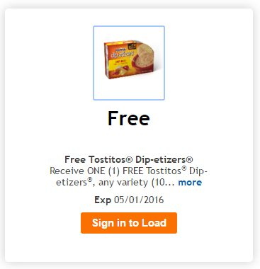 Kroger Freebie Friday Offer: FREE Tostitos Dip-etizers - http://couponingforfreebies.com/kroger-freebie-friday-offer-3-musketeers-bites/