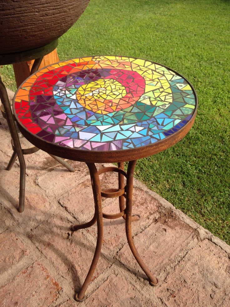 328 best mosaic tables countertops images on pinterest - Mosaicos de colores ...