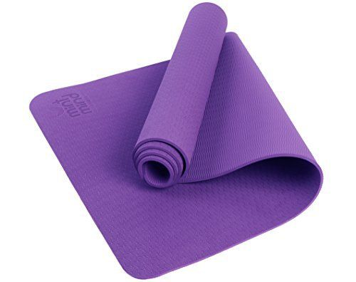 Premium Thick Hot Yoga Mat Meditation Mint Mind Fitness Workout Purple Mat, Antimicrobial Environmentally Friendly Exercise Mattress, Extra Long, Non-Slip, Pilates & Gym Accessory With Carrying Strap - http://www.exercisejoy.com/premium-thick-hot-yoga-mat-meditation-mint-mind-fitness-workout-purple-mat-antimicrobial-environmentally-friendly-exercise-mattress-extra-long-non-slip-pilates-gym-accessory-with-carrying-st/fitness/