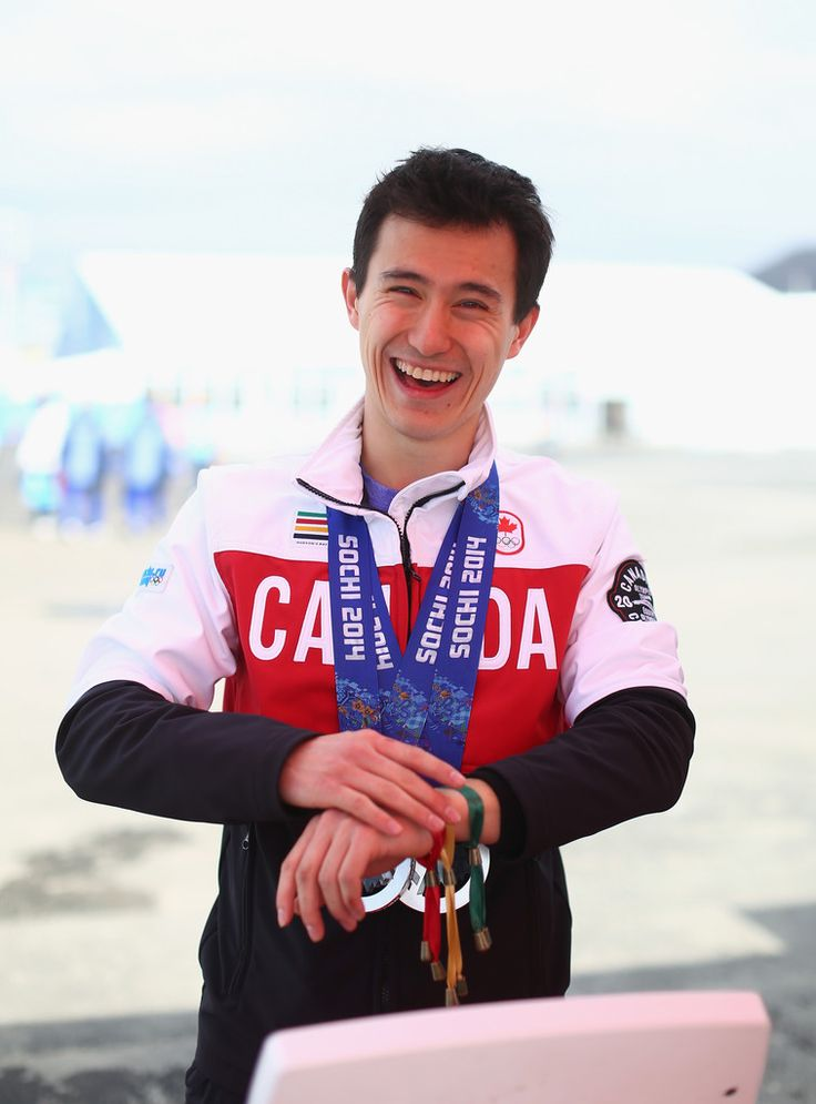 Patrick Chan visits the Cheers to Sochi kiosk in Sochi, Russia on February 19, 2014.