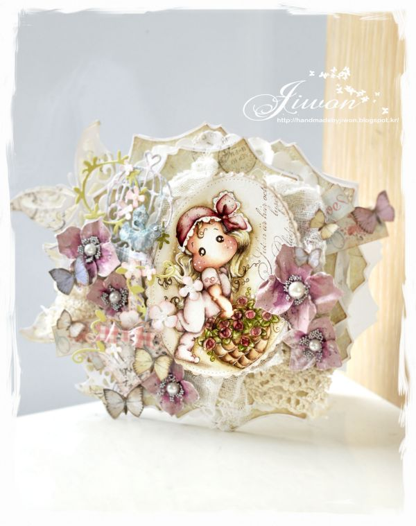 Jiwon Crafts Blog: Flower basket card