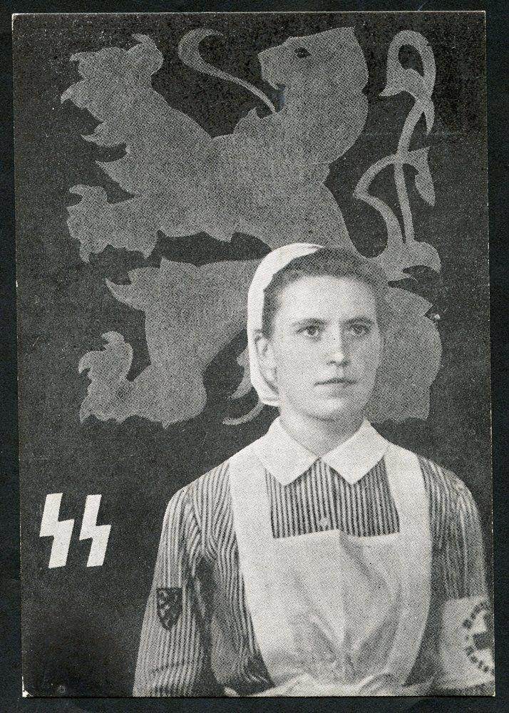 "Belgium WW2 ""Waffen-SS Flemish Legion Red Cross recruiting"""