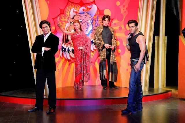 wax statues of bollywood stars