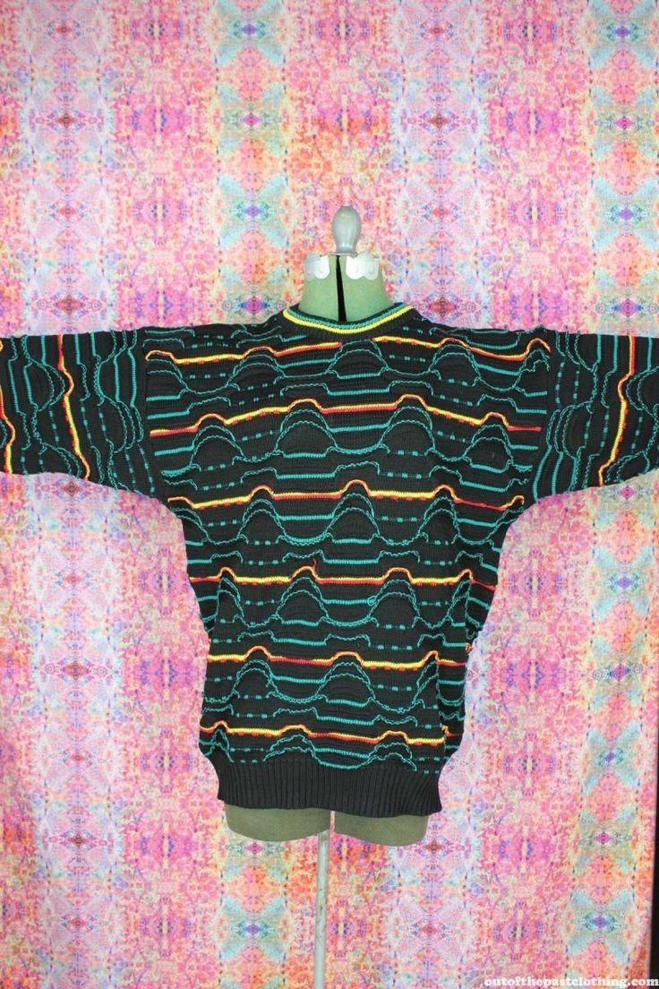 Kalaroo Vintage Australian Coogi Style Sweater