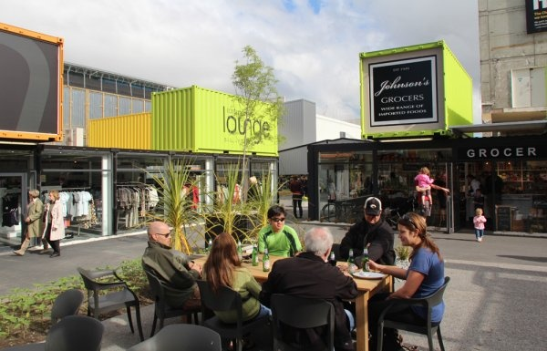 Re-Build project: Shipping-container shopping, Cashel Mall, Christchurch, NZ