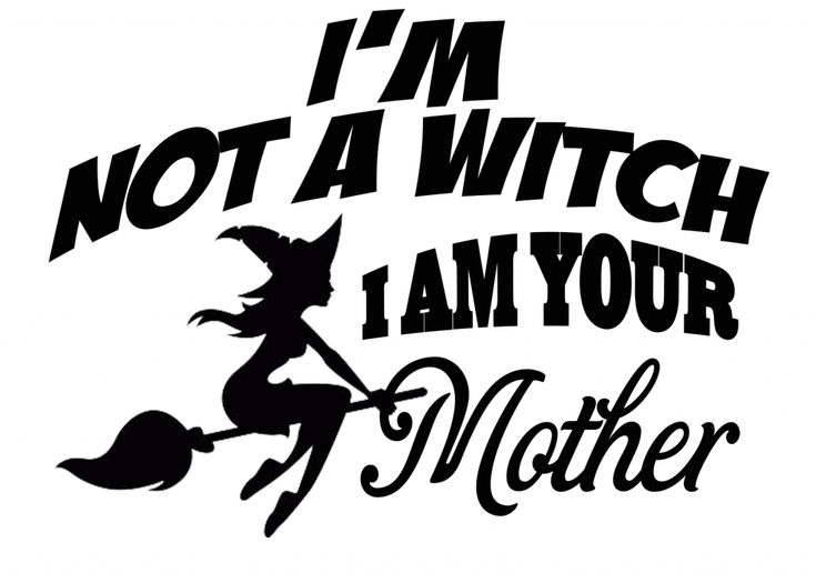 Free I'm not a Witch SVG File