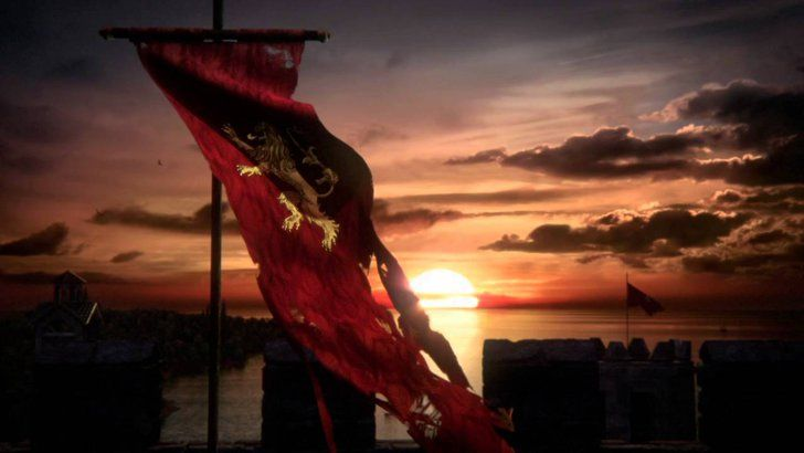 """Pin for Later: The Latest Game of Thrones Teaser Makes Jon Snow's Fate Even More Confusing """"Lannister Battle Banner"""""""