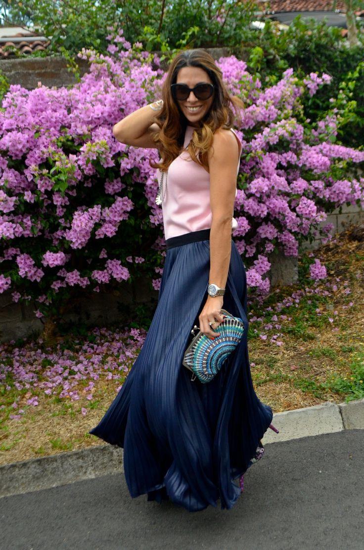 Maxi Flowing Skirt pink_longskirt_blue_pink_bcbg_zara_ninwest