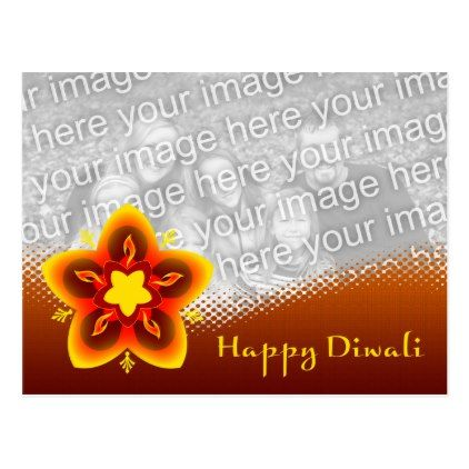 happy diwali photo card - postcard post card postcards unique diy cyo customize personalize