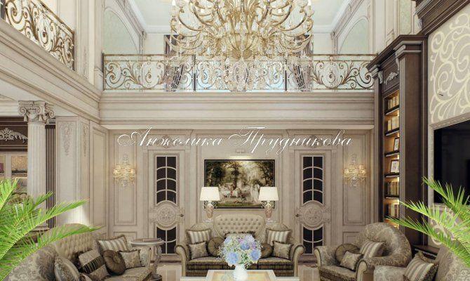 Интерьер частного дома в классическом стиле в КП «Жуковка»