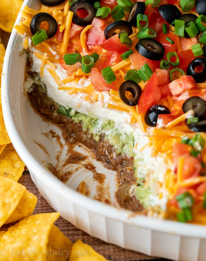 7 Layer Dip Recipe In 2020 Layered Dip Recipes Layered Bean Dip 7 Layer Dip Recipe