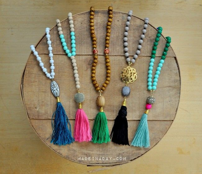 DIY-How to make tassel necklaces
