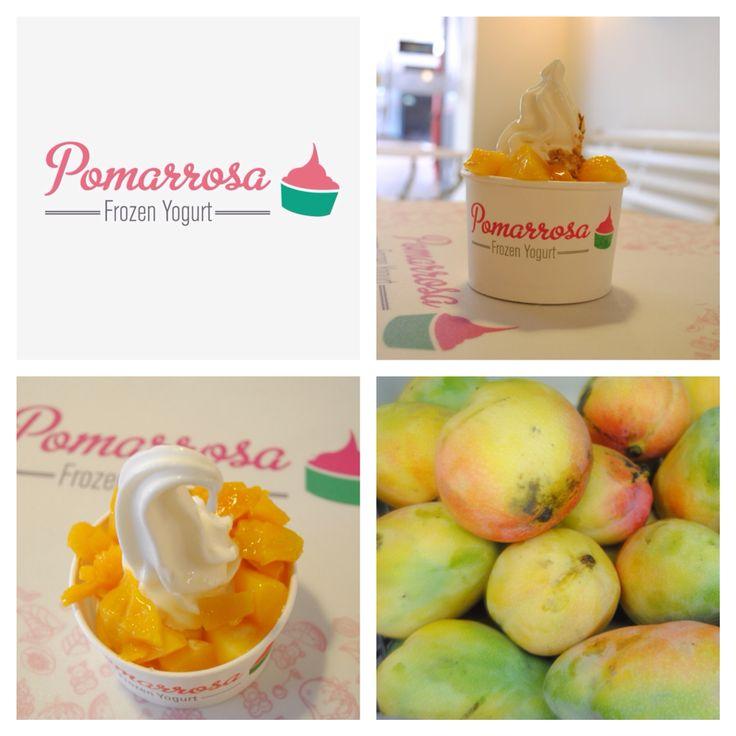 El mango nos ayuda a estar más tranquilos y a prevenir la debilidad muscular. #pomarrosafrozenyogurt #elplacerdecomersano #frozenyogurt #toppings #fruta #mango